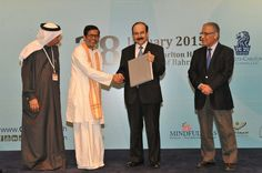 "Shuddhaanandaaji receives plaque commemorating ""The Power Within"" event from Origin Group, Bahrain"