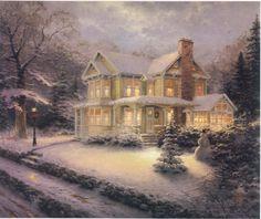 Victorian Christmas by Thomas Kinkade (Don't judge me!  I think it's pretty!)