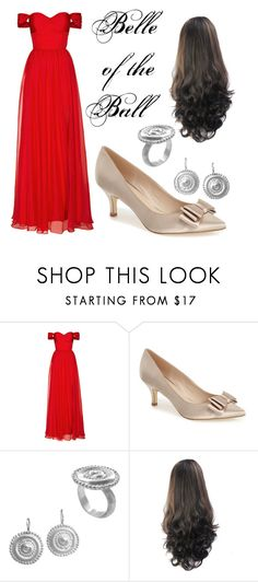 """""""A Beautiful Ball"""" by savedbyjesus ❤ liked on Polyvore featuring Fame & Partners, Menbur and Chen Fuchs Jewelry"""