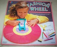 Fashion Wheel - hours of fun. I used to love my fashion wheel 1980s Childhood, My Childhood Memories, Childhood Games, Sweet Memories, Retro Toys, Vintage Toys, Early 90s Toys, Fashion Wheel, 80s Kids