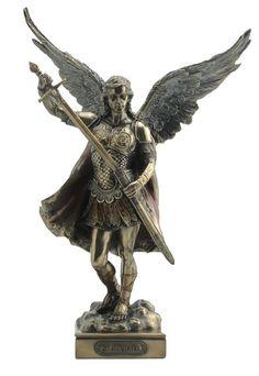 Michael Statue Archangel St Saint Sculpture Figure Catholic Fights Demon