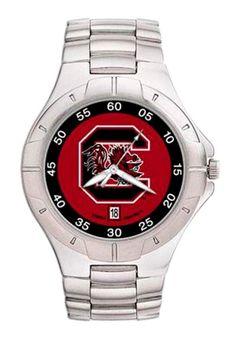 South Carolina Gamecocks NCAA Men's Pro II Watch with Stainless Steel Bracelet
