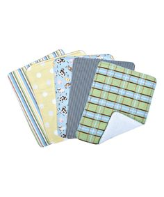 Look what I found on #zulily! Baby Barnyard Burp Cloth - Set of Five by Trend Lab #zulilyfinds