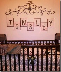 NURSERY LETTERS http://theautocrathaley.blogspot.com/2011/09/nursery-letters-pink-and-brown.html
