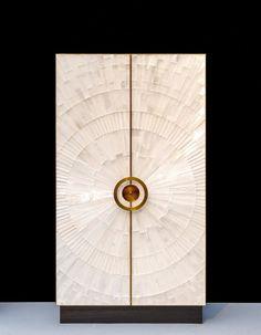 Bespoke Global - Product Detail - Jallu Ebénistes -Roxy Cabinet Gypse, patinated brass