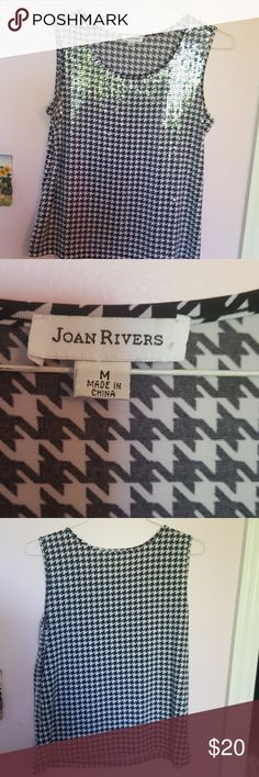 Joan Rivers slevless blouse This sleveless w/ clear sequins to add that sparkle to wear under or alone . Joan Rivers  Tops Blouses