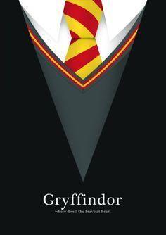 Gryffindor   Posters Minimalistas