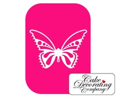 Small Butterfly 2 Part Airbrush Stencil By Dinkydoodle Designs is ideal for use decorating a range of pretty cakes.
