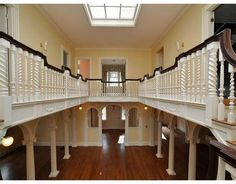 C 1901 #Romance #Romantic #Staircase #balcony #woodwork #Boston Historic New England, New England Homes, Balconies, Beautiful Homes, Boston, Stairs, Romance, Woodworking, Houses