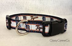 Detroit Tigers Dog Collar by classycanineco on Etsy, $12.00