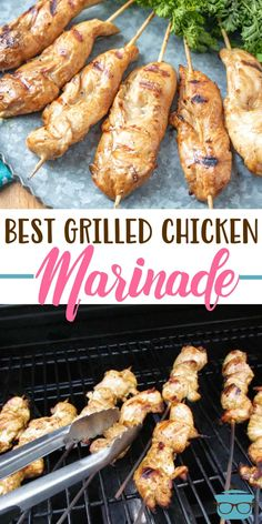 The best grilled chicken marinade This really is the best grilled chicken marinade! Its easy to prepare and makes any chicken taste like restaurant-quality chicken. Source by cocoonapothecary Best Grilled Chicken Marinade, Chicken Marinades, Grilled Chicken Recipes, Grilled Chicken Tenders, Boneless Chicken, Grilled Meat, Grilling Recipes, Cooking Recipes, Healthy Recipes