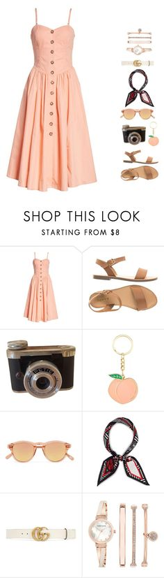 """""""Untitled #71"""" by noysharony71 ❤ liked on Polyvore featuring Free People, Chimi, Henri Bendel, Gucci and Anne Klein"""