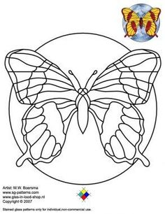 Butterfly stained glass pattern - A4 Etc. Free Stained Glass Pattern Resizer #StainedGlassButterfly