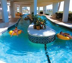 I never been to this lazy river at Myrtle Beach but I have gone to another one down there when i was 8 but I forgot the name of it. Lazy River Pool, Backyard Lazy River, Pool Backyard, Indoor Swimming Pools, Indoor Outdoor Pools, Inside Mansions, Awesome Pools, Cool Pools, Pool Houses