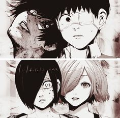 Kaneki x Touka // TouKen - then and now