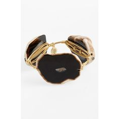 Bourbon and Boweties 'XL' Dyed Agate Bracelet ($50) ❤ liked on Polyvore featuring jewelry, bracelets, hinged bangle, hinged bracelet, bangle bracelet, polish jewelry and agate jewelry