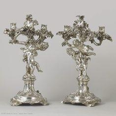 François-Thomas GERMAIN (1726 - 1791)  Pair of girandoles  1757