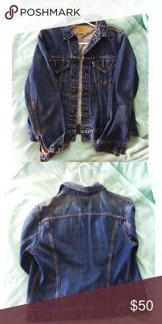 Levi's Denim Jacket Vintage Levi's Denim jacket. Dark wash with a distress look to it. Levi's Jackets & Coats Jean Jackets