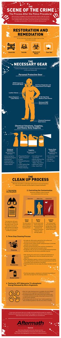 The Scene of a Crime #infographic #Cleaning #Health