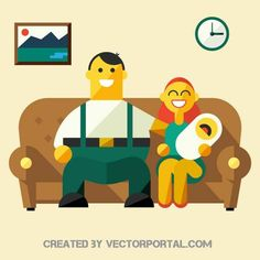 Happy family vector image.