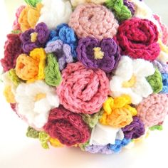 More bouquets new to the shop! Keepsake Crochet Wedding Bouquet Bright Spring by ToHaveandToHolder