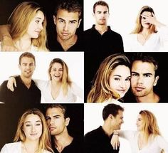 Theo James and Shailene woodley photoshots