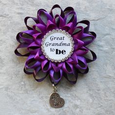 Great Grandma Gift Great Grandma to Be Gift Baby Shower Decorations New Grandma Gift Baby Shower Corsages Grandma Pin Grandparents Pin