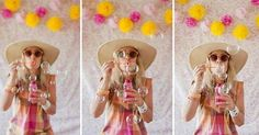 Grab some bubbles and #DIY tissue garland and have a fun #photobooth time! Great idea via #SFGirlByBay