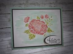 handmade card from Barbara's creative studio - Stampin! Demonstrator in Vienna ... Birthday Blossoms ... water color wash ... simple design lets the flowers shine ... Stampin' Up!