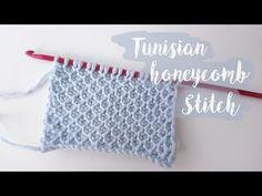 tunisian honeycomb crochet stitch, videos relacionados y comentarios Stitch Crochet, Knit Crochet, Crochet Hippo, Tunisian Crochet Patterns, Tunisian Crochet Blanket, Honeycomb Stitch, Crochet Afgans, Knitting Magazine, How To Start Knitting