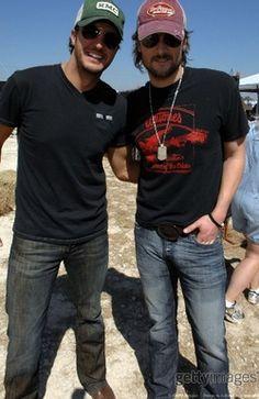 Luke Bryan and Eric Church... Hotties.