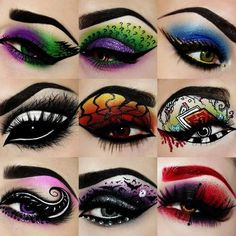 Crazy eye makeup for fashion girls