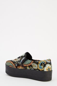 Shoes, from Everything£5 Plimsolls, Platform Shoes, Paisley Print, Sneakers, Clothing, Stuff To Buy, Fashion, Tennis, Outfits