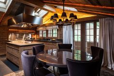 Private residence in Gstaad Chalet Interior, Interior Design Services, Luxury Furniture, Service Design, Cosy, Modern, Dining Tables, Kitchen Designs, Bronze Finish