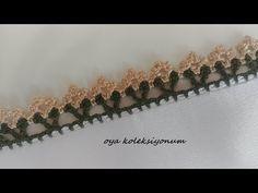 Çıtıpıtı Bir Tığ Oyası - YouTube Crochet Flower Tutorial, Crochet Flowers, Crochet Trim, Crochet Lace, Tatting Jewelry, Creative Embroidery, Crochet Borders, Crochet Videos, Crochet Cardigan