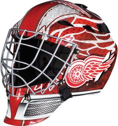 Franklin Sports GFM 1500 NHL Goalie Face Mask - Show off your official NHL colors by playing street hockey in this Franklin Sports GFM 1500 NHL Goalie Face Mask . This goalie face mask comes in your. Hockey Helmet, Hockey Goalie, Football Helmets, Ice Hockey, Bruins Hockey, Hockey Teams, Hockey Players, Detroit Red Wings, Street Hockey