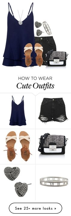 """""""Cute Summer Outfit"""" by music-and-fashion-111 on Polyvore featuring Topshop, C/MEO COLLECTIVE, Billabong, Karen Kane, Betsey Johnson, Tiffany & Co. and Karl Lagerfeld"""
