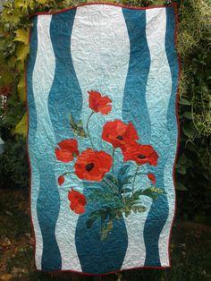 Poppies! applique quilt