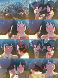 Kimi no na wa Kimi No Na Wa, Noragami, Watch Your Name, Manhwa, Your Name Anime, Popular Anime, Sakura And Sasuke, Bullet Journal Ideas Pages, Anime Kawaii