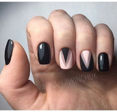 Geometric nail art designs look beautiful and chic on short and long nails. Geometric patterns in any fashion field are the style that fashionistas dream of. This pattern has been popular in nail art for a long time, because it is easy to create in n Classy Nails, Stylish Nails, Simple Nails, Trendy Nails, Purple Nail Designs, Gel Nail Designs, Nails Design, Rose Nail Design, Pink Gel