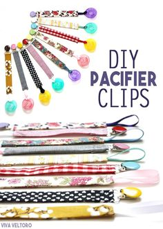 Never drop or lose your baby's binky again! Follow our easy tutorial on how to make your own pacifier clips.