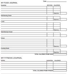 Food Log Template   Free Word Excel Pdf Documents  Free