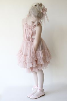 DOLLY by Le Petit Tom ® RUFFLED CHIFFON DANCE DRESS ballet pink | Le Petit Tom ®