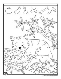 Kitten Hidden Objects Printable bilder Easy Hidden Pictures with Animals Printable Activity Pages Preschool Worksheets, Preschool Activities, Hidden Pictures Printables, Find The Hidden Objects, Hidden Picture Puzzles, Animal Activities For Kids, Post Animal, Pictures To Paint, Painting Pictures For Kids
