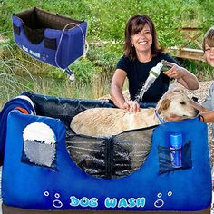 Hugs Pet Products Inflatable Blue 'Dog Wash' - Overstock Shopping - The Best Prices on Other Pet Grooming