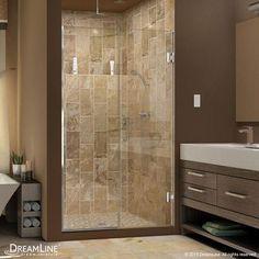 "DreamLine UniDoor Plus 72"" x 39.5"" Pivot Hinged Shower Door with Hardware Trim Finish:"