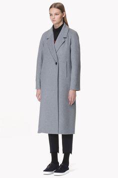 [SYSTEM0] Wool cashmere blend raglan coat
