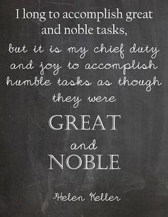 Humble Tasks Helen Keller  #humility