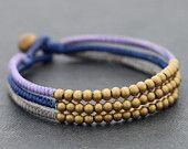 Shade Of Blue Beaded Bracelet