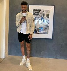 Dope Outfits For Guys, Swag Outfits Men, Summer Outfits Men, Stylish Mens Outfits, Mode Outfits, Guy Outfits, Trendy Mens Fashion, Street Style Outfits Men, Black Men Street Fashion